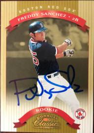 Freddy Sanchez Autographed 2002 Donruss Classics # 204 LE 0641/1500
