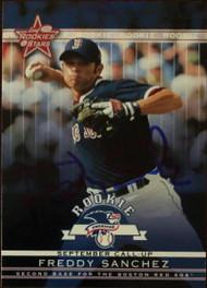 Freddy Sanchez Autographed 2002 Leaf Rookies & Stars #346