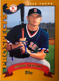 Freddy Sanchez Autographed 2002 Topps #313 Rookie Card