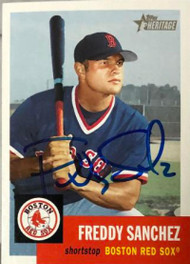 Freddy Sanchez Autographed 2002 Topps Heritage #158 Rookie Card