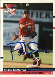 Freddy Sanchez Autographed 2001 Lowell Spinners Team Issued #NNO