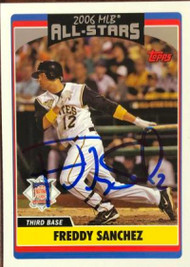 Freddy Sanchez Autographed 2006 Topps Updates and Highlights #UH269