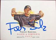 Freddy Sanchez Autographed 2007 Topps Allen & Ginter #201