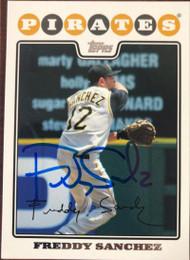 Freddy Sanchez Autographed 2008 Topps #462