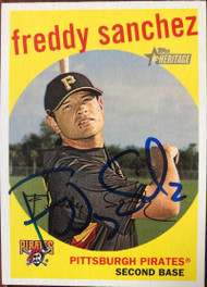 Freddy Sanchez Autographed 2008 Topps Heritage #415