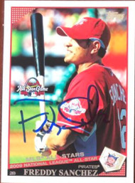 Freddy Sanchez Autographed 2009 Topps Updates & Highlights #UH283