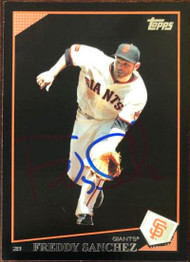 Freddy Sanchez Autographed 2009 Topps Walmart Exclusive Updates & Highlights #UH230