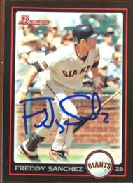 Freddy Sanchez Autographed 2010 Bowman #51