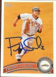 Freddy Sanchez Autographed 2011 Topps #260