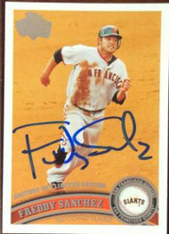 Freddy Sanchez Autographed 2011 Topps Diamond Anniversary Factory Set Limited Edition #260
