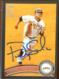 Freddy Sanchez Autographed 2011 Topps - Black #260 LE 10/60