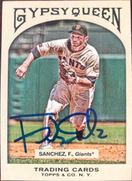 Freddy Sanchez Autographed 2011 Topps Gypsy Queen #258