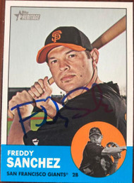 Freddy Sanchez Autographed 2012 Topps Heritage #185