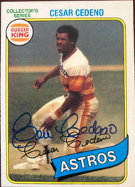 Cesar Cedeno Autographed 1980 Burger King Pitch, Hit & Run #25