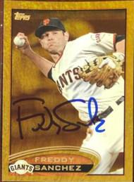 Freddy Sanchez Autographed 2012 Topps Golden Moments #561