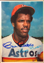 Cesar Cedeno Autographed 1980 Topps Superstar Photos Gray Backs #56