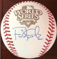 Freddy Sanchez Autographed 2010 World Series Baseball TOUGH SIGNATURE