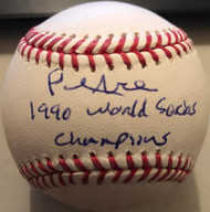 Paul Noce 1990 World Series Champs Autographed ROMLB Baseball