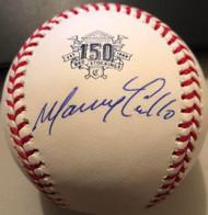 Manny Trillo Autographed Cincinnati Reds 150th Anniversary ROMLB Baseball