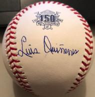 Luis Quinones Autographed Cincinnati Reds 150th Anniversary ROMLB Baseball