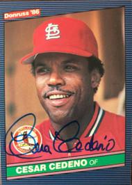 Cesar Cedeno Autographed 1986 Donruss #648
