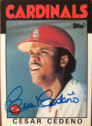 Cesar Cedeno Autographed 1986 Topps #224