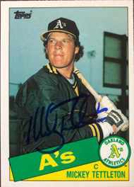 Mickey Tettleton Autographed 1985 Topps Traded #120T