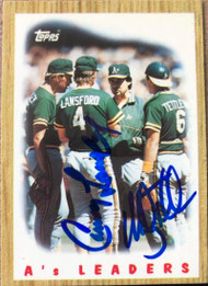 Mickey Tettleton and Carney Lansford Autographed 1987 Topps Tiffany #456
