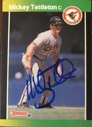 Mickey Tettleton Autographed 1989 Donruss Baseball's Best #86