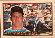Mickey Tettleton Autographed 1989 Topps Big #198