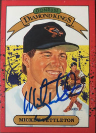 Mickey Tettleton Autographed 1990 Donruss #5 Diamond Kings
