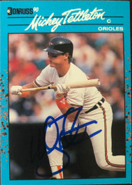 Mickey Tettleton Autographed 1990 Donruss Baseball's Best #15