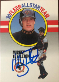 Mickey Tettleton Autographed 1990 Fleer All-Stars #12
