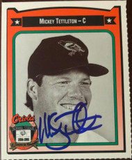 Mickey Tettleton Autographed 1991 Baltimore Orioles Crown #454