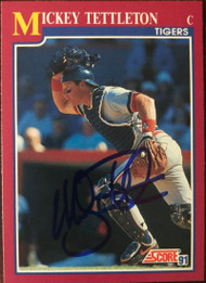 Mickey Tettleton Autographed 1991 Score Rookie/Traded #25T