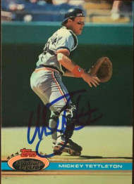 Mickey Tettleton Autographed 1991 Stadium Club #412