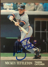 Mickey Tettleton Autographed 1991 Fleer Ultra Update #U-24