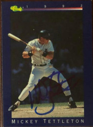 Mickey Tettleton Autographed 1992 Classic Game #89