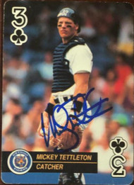 Mickey Tettleton Autographed 1992 US Playing Card Co. Baseball Aces #3C