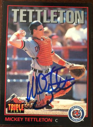 Mickey Tettleton Autographed 1993 Triple Play #92