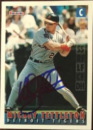 Mickey Tettleton Autographed 1995 Bazooka #101