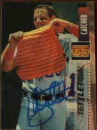 Mickey Tettleton Autographed 1995 Sportflix #137