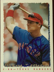 Mickey Tettleton Autographed 1995 Topps Traded #50T