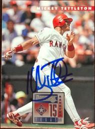 Mickey Tettleton Autographed 1996 Donruss #72