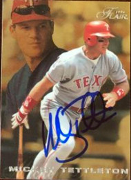 Mickey Tettleton Autographed 1996 Flair #179