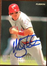 Mickey Tettleton Autographed 1996 Fleer Texas Rangers #15