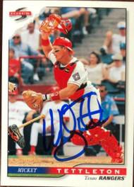 Mickey Tettleton Autographed 1996 Score #388