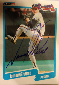 Tommy Greene Autographed 1990 Fleer #584