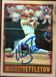 Mickey Tettleton Autographed 1997 Topps Chrome #162