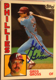 Greg Gross Autographed 1984 Topps Tiffany #613